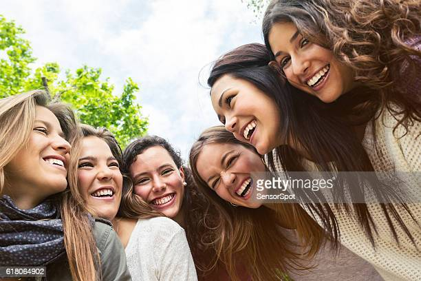 Group of friends taking a selfie