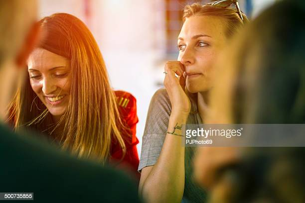group of friends talking - pjphoto69 stock pictures, royalty-free photos & images
