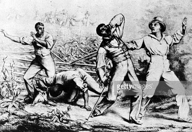 A group of fugitive slaves about to be recaptured