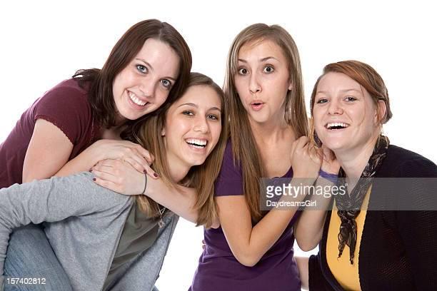 grupo de diversão mulheres jovens jogando rindo abraçando - vestido roxo - fotografias e filmes do acervo