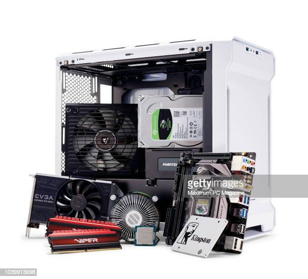 A group of gaming PC hardware components including a Pentium G4600 Asus ROG Strix B250I Gaming motherboard Kingston UV400 120GB EVGA GeForce GTX 1050...