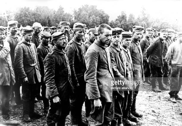 Group of German soldiers, who became British prisoners of war during the major offensive at the Western front in April 1918. Set off by the deadly...