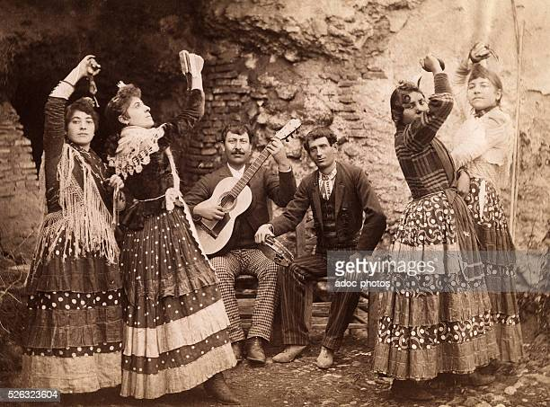 Group of gipsies near Algeciras ca 1900