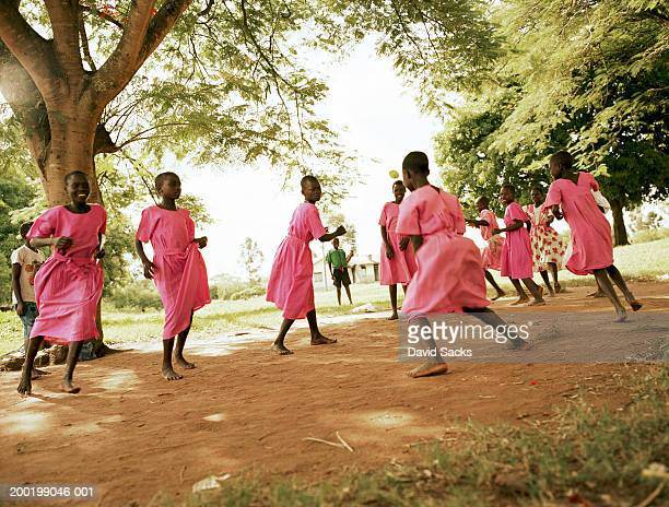 Group of girls (6-12) playing