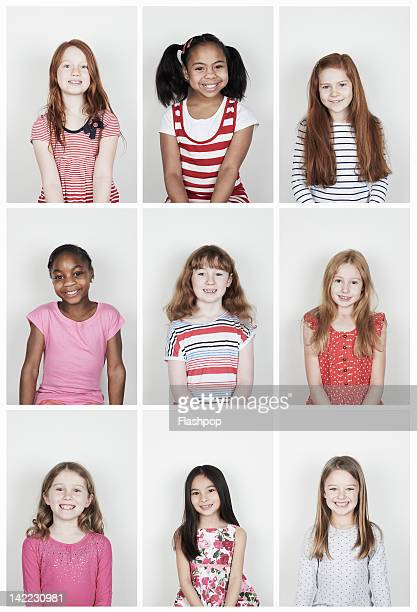 group of girls smiling - only girls stock pictures, royalty-free photos & images