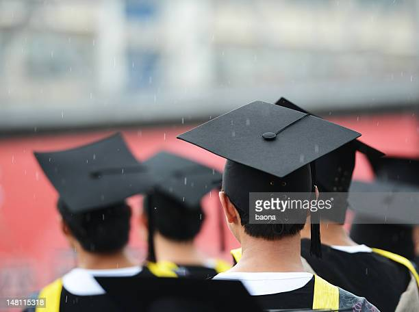 group of graduates - graduation crowd stock pictures, royalty-free photos & images