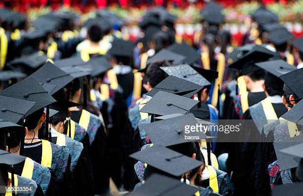 group of graduates - graduation gown stock pictures, royalty-free photos & images