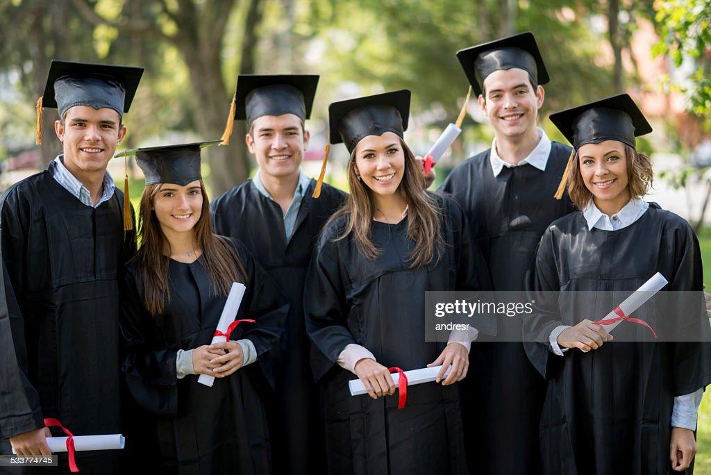 Gruppo di studenti di laurea : Foto stock