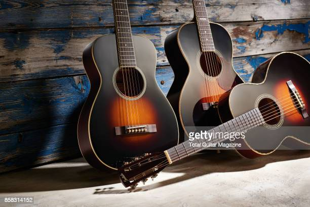 A group of Gretsch Roots Collection acoustic guitars with an Appalachia Cloudburst finish including a G9511 Style 1 Single0 'Parlor' G9531 Style 3...