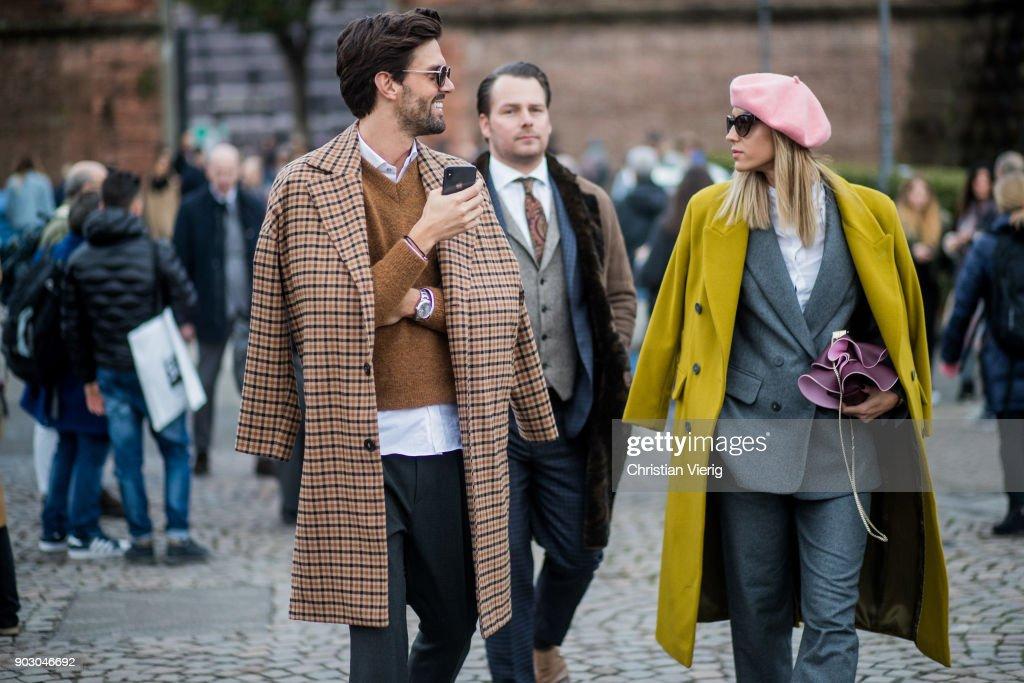 Street Style: January 09 - 93. Pitti Uomo : News Photo