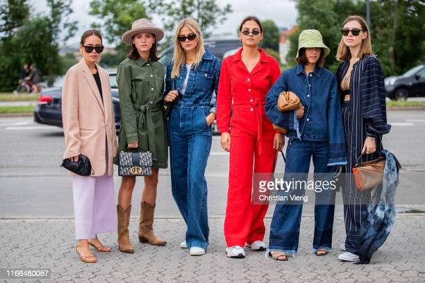 Group of guests outside Blanche during Copenhagen Fashion Week Spring/Summer 2020 on August 06, 2019 in Copenhagen, Denmark.