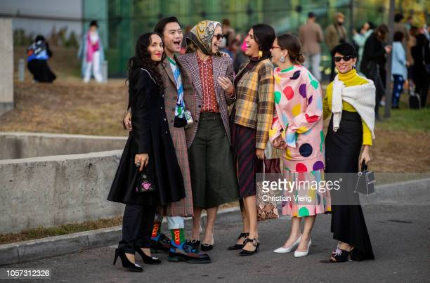 Group of guests seen during MercedesBenz Tbilisi Fashion Week on November 4 2018 in Tbilisi Georgia