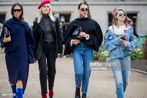 Group of guests seen outside Sacai during Paris Fashion Week Spring/Summer 2018 on October 2 2017 in Paris France