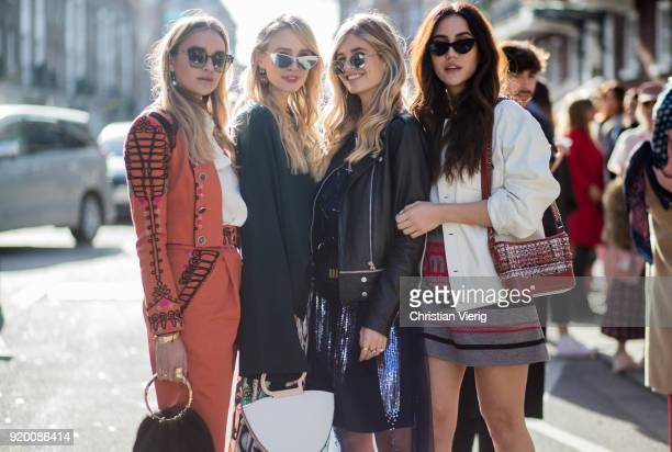 Group of guests seen outside Temperley London during London Fashion Week February 2018 on February 18 2018 in London England