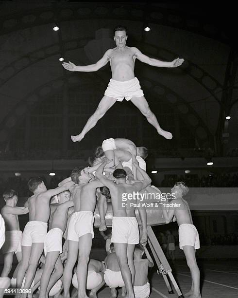 Group of Gymnasts on Vault