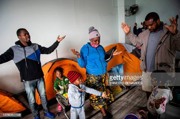 A group of Haitians perform a religious evangelistic ceremony at a bus station in Lima on July 10 2020 On March 16 2020 the order of compulsory...