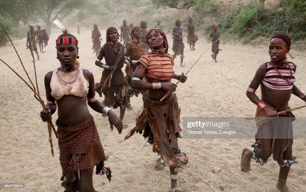 A group of Hamer women, Ethiopia : Stock-Foto