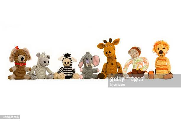 group of handmade stuff toys - stuffed toy stock pictures, royalty-free photos & images