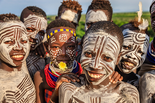 Group of happy African children, East Africa 1143708661