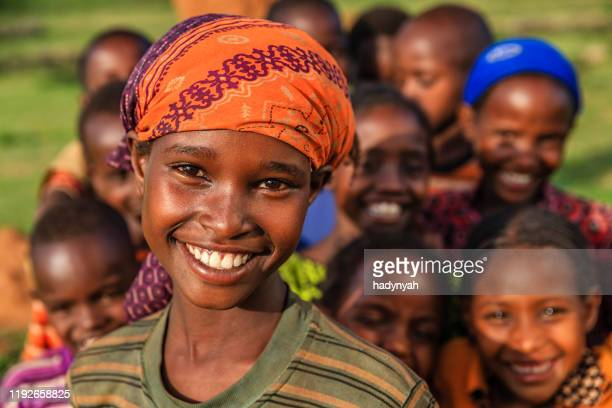 group of happy african children, east africa - africa stock pictures, royalty-free photos & images
