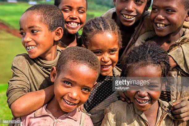 Group of happy African children, Ethiopia, East Africa