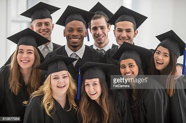 Group of Happy Graduates