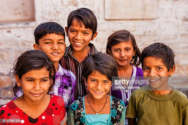 Group of happy Indian children