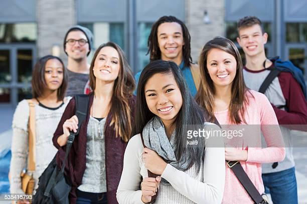 Gruppe von high school oder college-Studenten