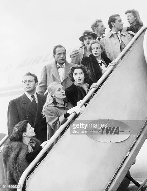 A group of Hollywood stars representing five hundred of their colleagues leaving Los Angeles for Washington to protest the manner in which...