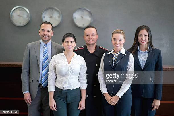 Group of hotel employees