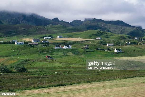 Group of houses Isle of Skye Hebrides Scotland United Kingdom