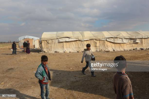 A group of IDPs from the area of Al Bayad seen living inside handmade tents It is noteworthy that the people of AlBayad fled after the Syrian regime...