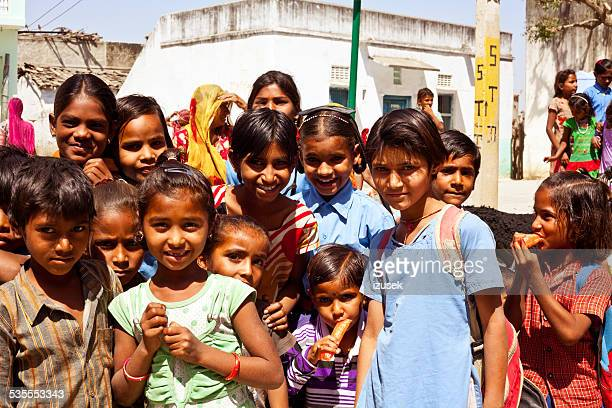 group of indian children - izusek stock photos and pictures