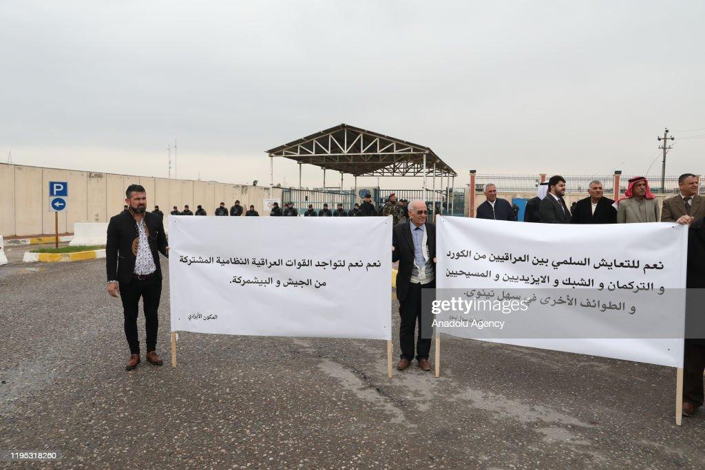Protest in Erbil againstI Iranian-backed Hashd al-Shaabi : Nieuwsfoto's