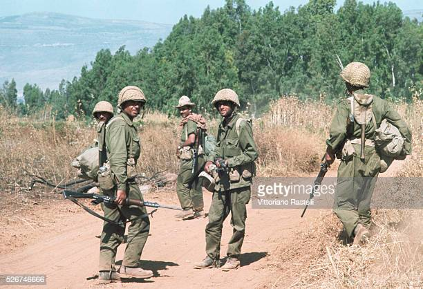 A group of Israeli soldiers during the SixDay War By June 10 when the fighting was halted Israel had won territory four times the area of its...