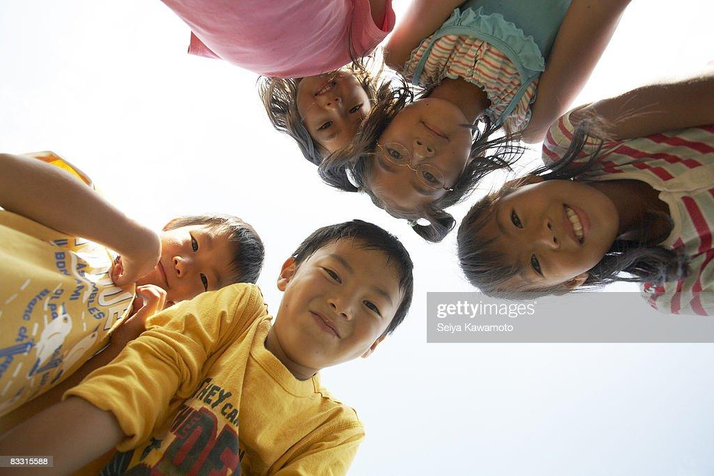 Group of Japanese children, portait : Stock Photo