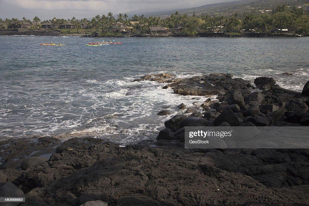 Group Of Kayakers Keauhou Bay Hawaii Stock Photo - Getty Images
