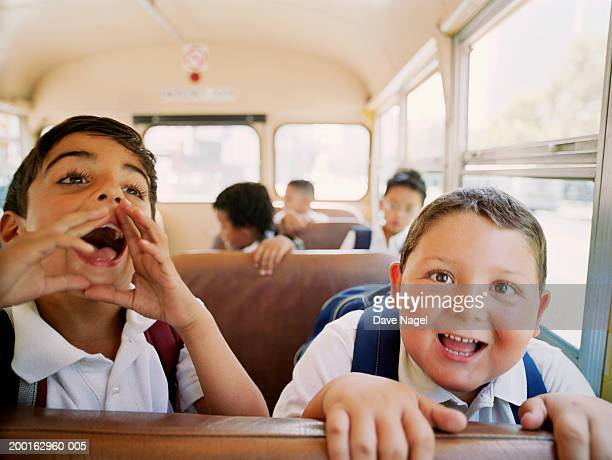 group of kids (6-8) having fun on school, portrait - chubby boy stock pictures, royalty-free photos & images