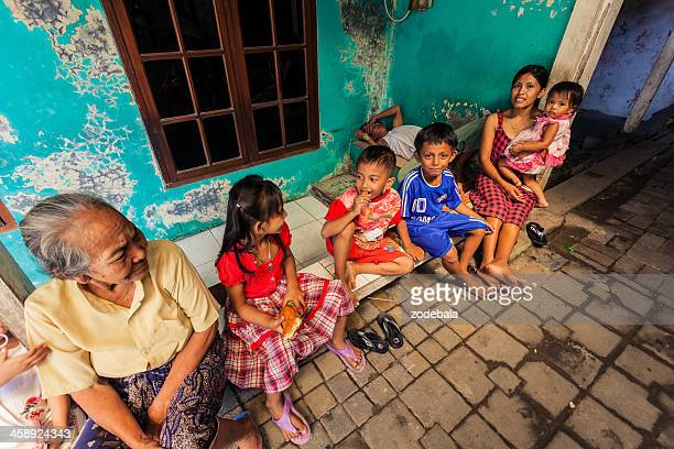 Group of Kids in a Small Village, Java, Indonesia