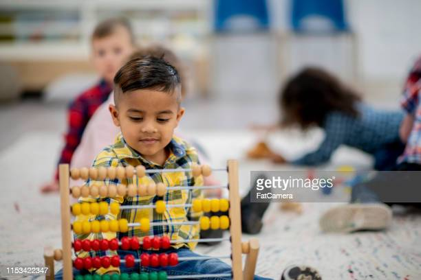 group of kindergarten children - counting stock pictures, royalty-free photos & images