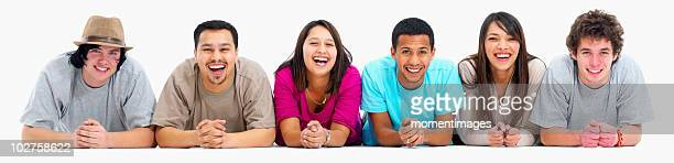 Group of laughing friends