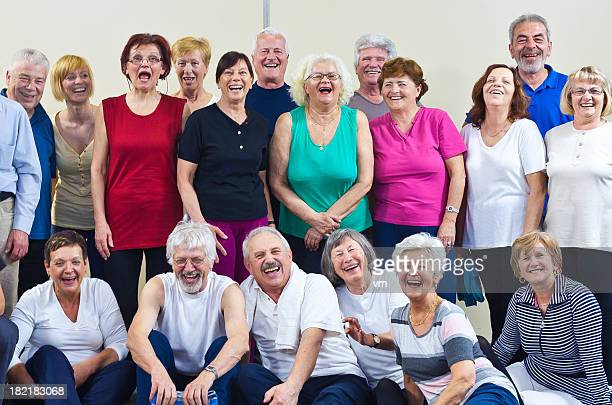 Group of laughing seniors