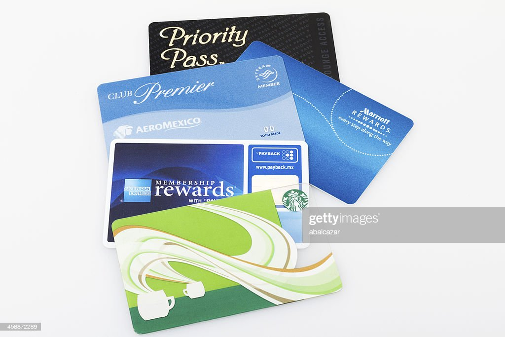 Group of loyalty cards : Stock Photo