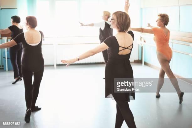 Group of mature women dancing