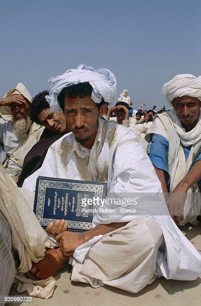 A group of Mauritanian men await deportation back to their homeland after a minor incident on the SenegalMauritania border in April 1989 led to...
