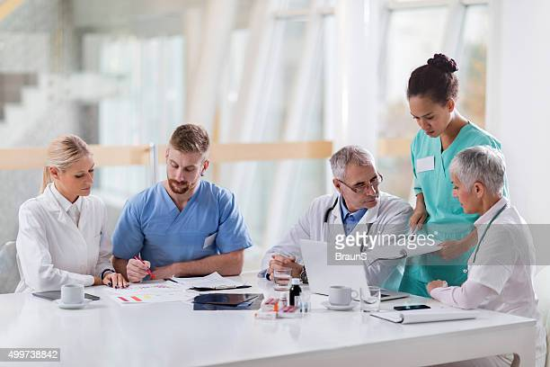Group of medical experts working in the hospital.