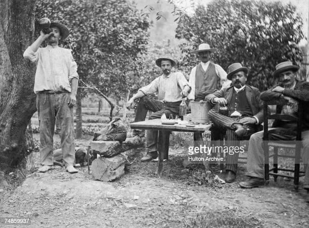 A group of men at Las Sallas in the Valley of Caguas Puerto Rico 1894