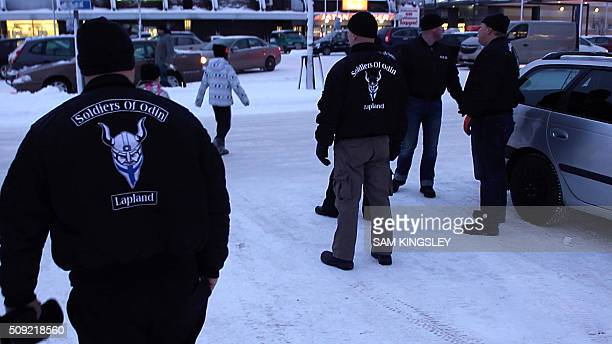 A group of men calling themselves the Soldiers of Odin are pictured on February 5 2016 in Kemi northern Finland Fiercelooking men calling themselves...