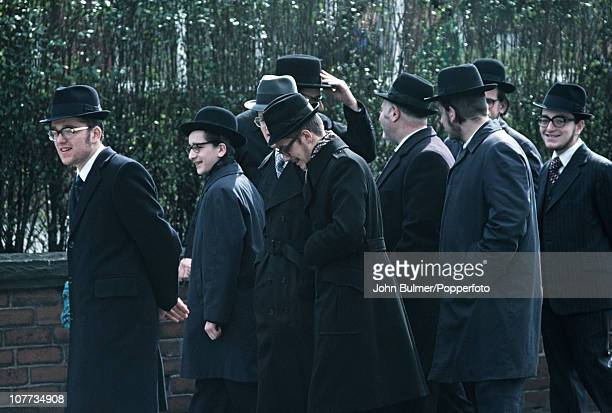 A group of men from the Jewish Quarter of Manchester in 1976
