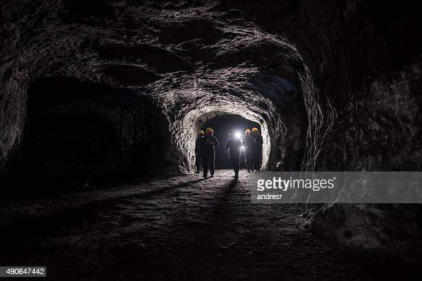 group of men in a mine - gruva bildbanksfoton och bilder